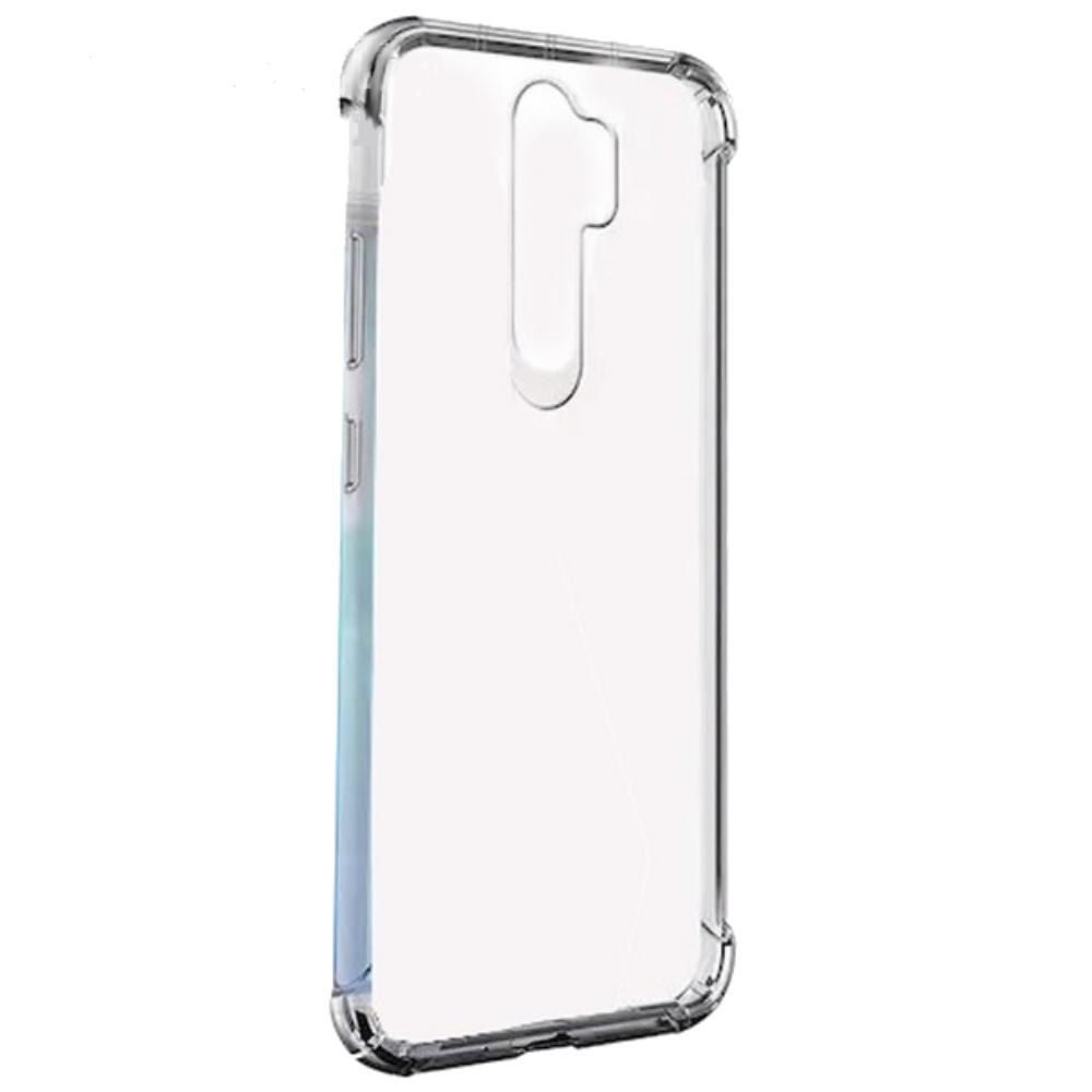 Xiaomi Redmi 9 Szilikon telefonvédő (közepesen ütésálló, légpárnás sarok) ÁTLÁTSZÓ