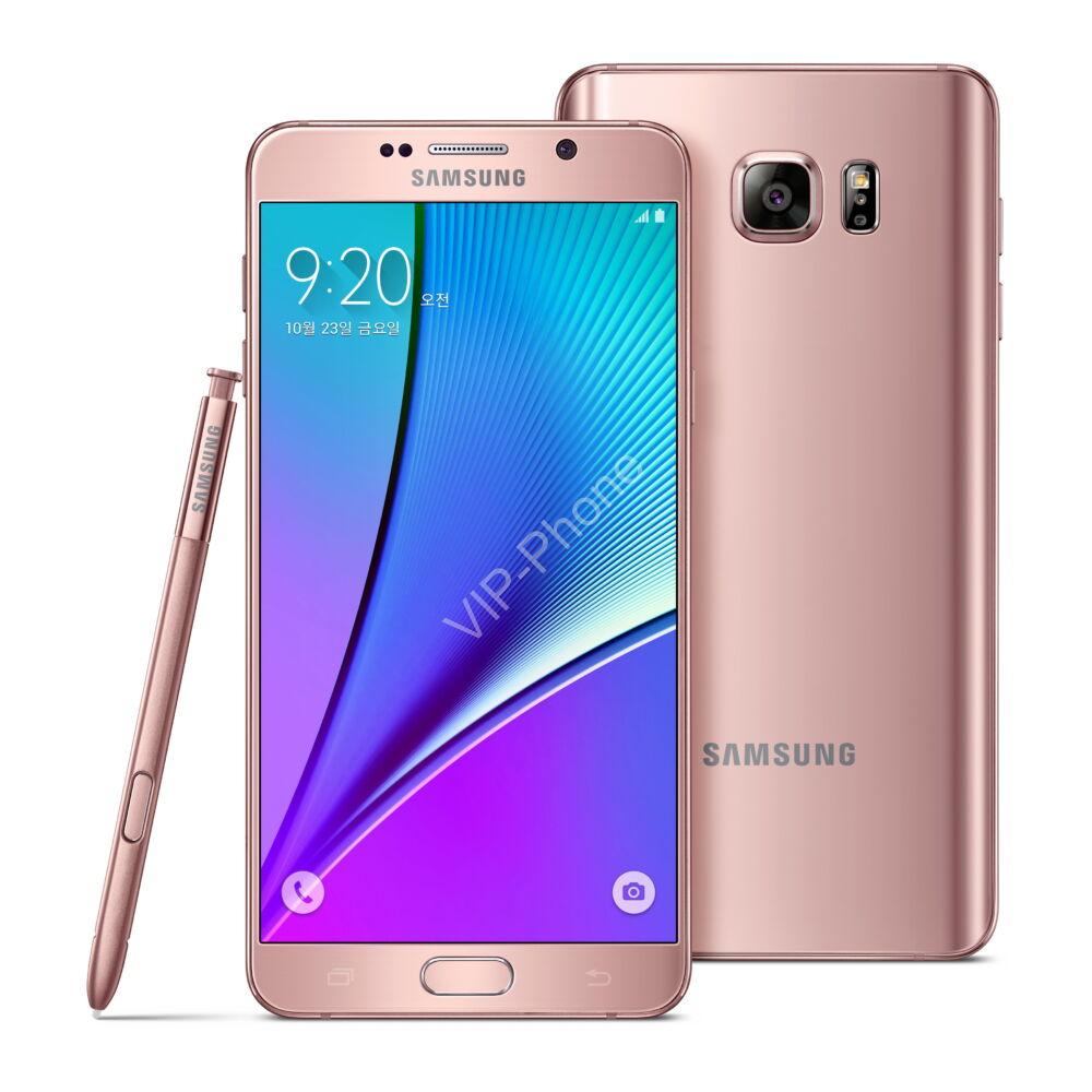 HASZNÁLT Samsung Galaxy Note 5 Dual Sim (N920CD) Rose Gold kártyafüggetlen mobiltelefon