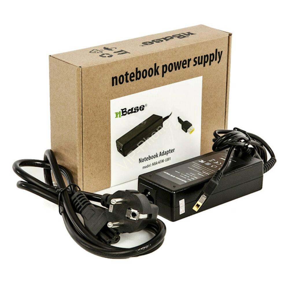 nBase Lenovo Laptop töltő+kábel 20V 3.25A 65W (NBA-65W-LE01)