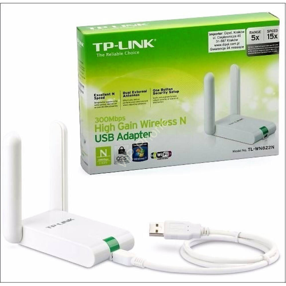TP-LINK WIRELESS 300 MBPS USB WIFI ADAPTER, TL-WN822N 2ÉV