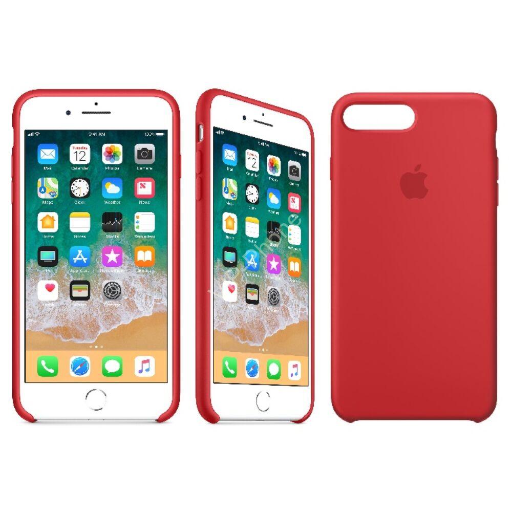 f4fd59a53d APPLE IPHONE 8 PLUS/7 PLUS GYÁRI SZILIKON HÁTLAP TOK, (PRODUCT)RED, MQH12