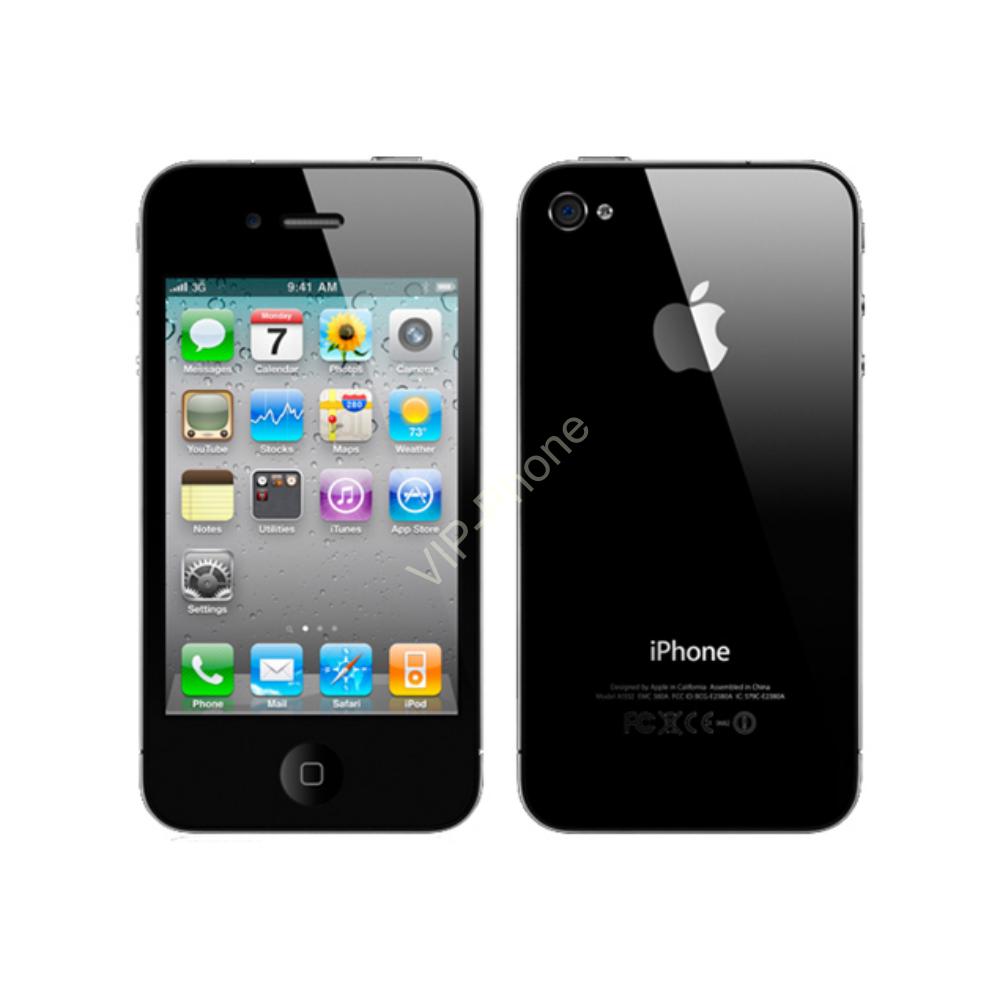 HASZNÁLT Apple iPhone 4 16Gb Black kártyafüggetlen mobiltelefon