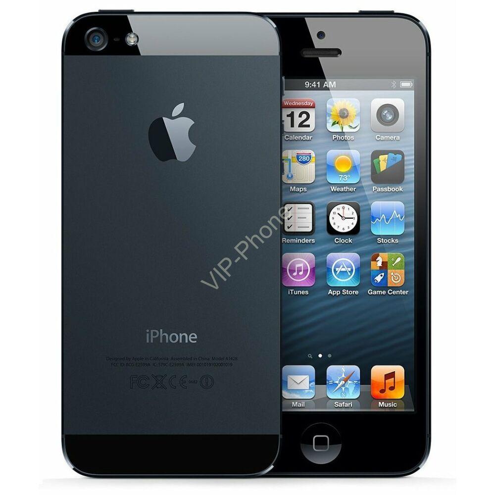 HASZNÁLT Apple iPhone 5 32Gb Black kártyafüggetlen mobiltelefon