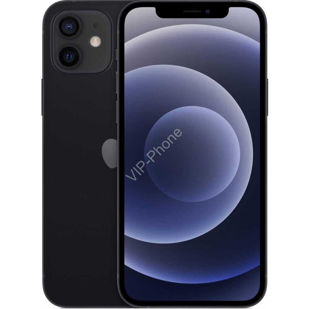 Apple iPhone 12 128GB Fekete, Gyártói Apple Store Garanciás Mobiltelefon