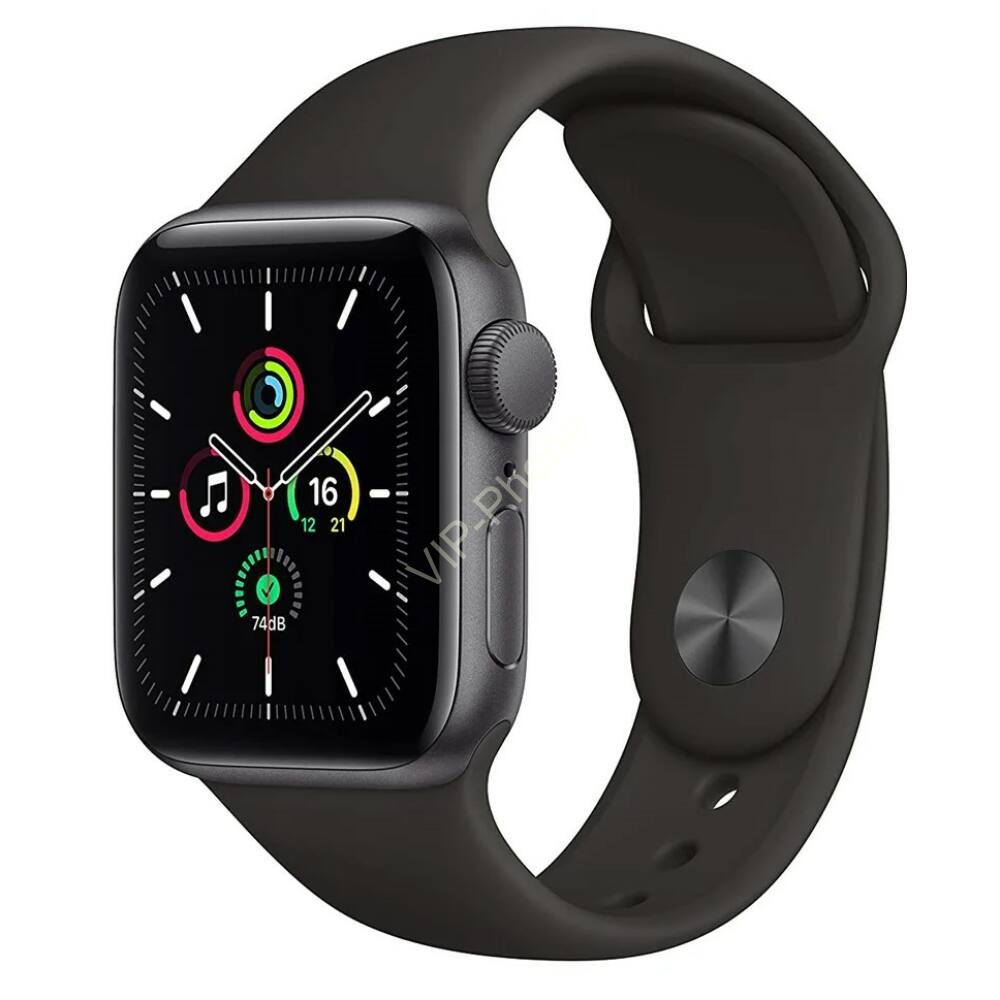 Apple Watch SE GPS 44mm Space Grey Aluminium Case with Sport Band Black
