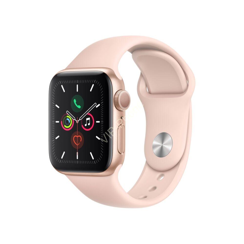 Apple Watch Series 5 44mm Aluminium Gold Sport Band Pink Sand MWVE2H okosóra