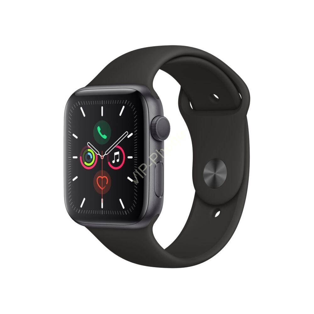 Apple Watch Series 5 44mm Aluminium Gray Sport Band Black MWVF2 okosóra