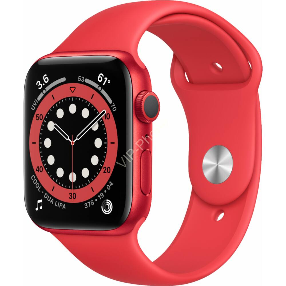 Apple Watch Series 6 44mm Red Aluminium Red Sport Band okosóra
