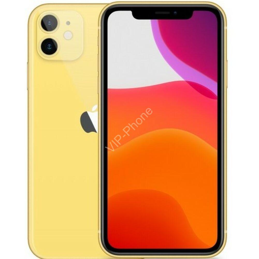 Apple iPhone 11 128GB Yellow Gyártói Apple Store Garanciás Mobiltelefon