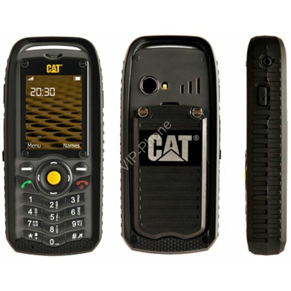 Caterpillar B25 Dual-Sim fekete gyártói garanciás kártyafüggetlen mobiltelefon