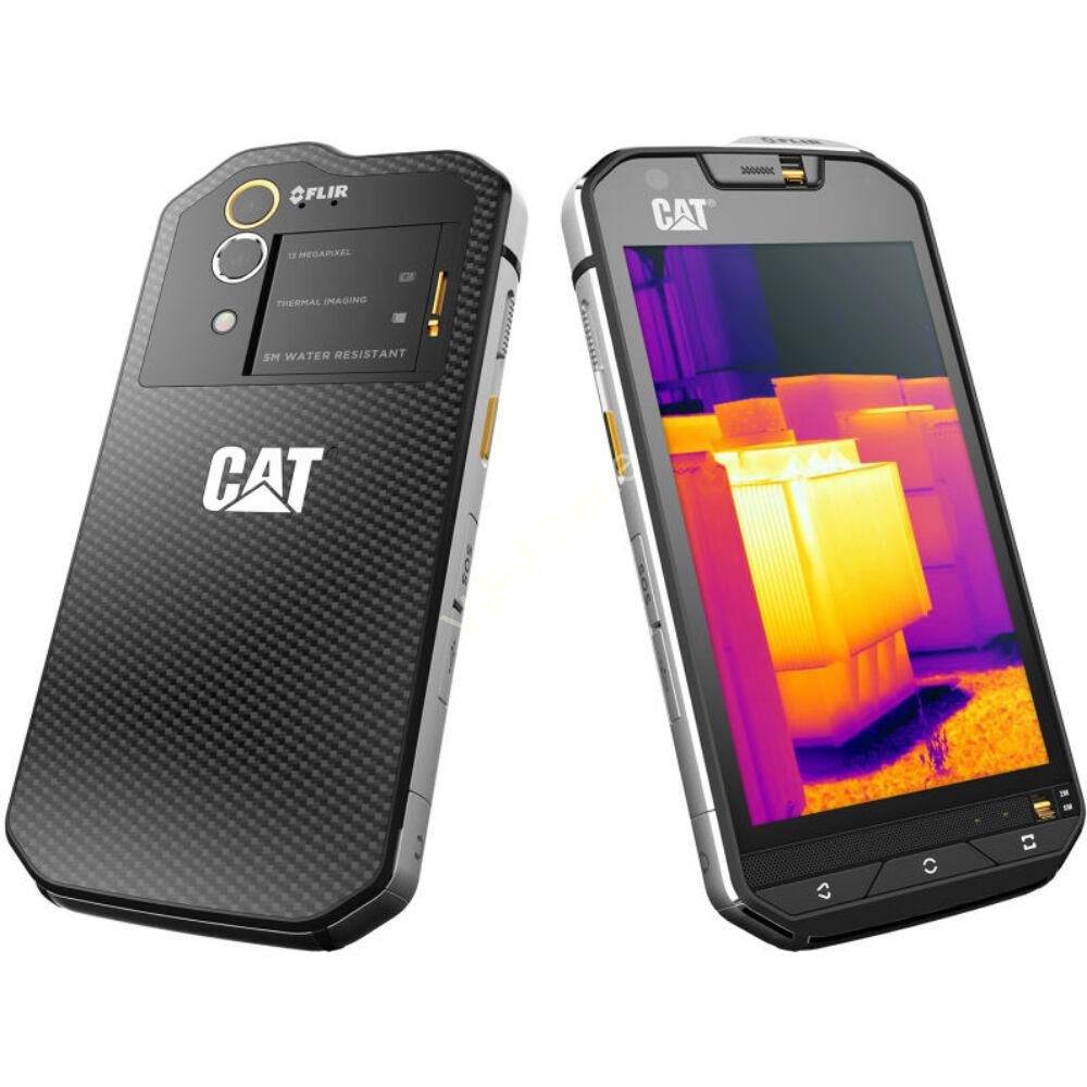 Caterpillar S60 Dual-Sim fekete gyártói garanciás kártyafüggetlen mobiltelefon