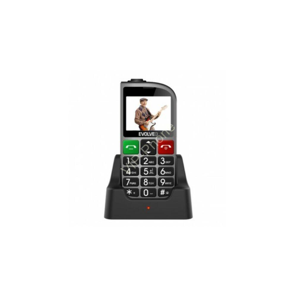 EVOLVEO EasyPhone FM (EP800) ezüst gyártói garanciás kártyafüggetlen mobiltelefon