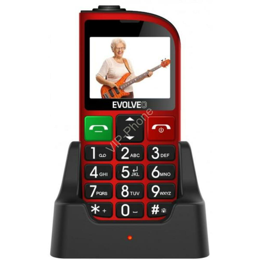 EVOLVEO EasyPhone FM (EP800) piros gyártói garanciás kártyafüggetlen mobiltelefon