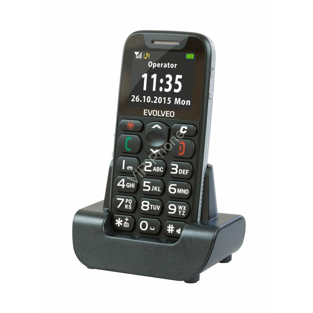 EVOLVEO EasyPhone (EP500) Fekete gyártói garanciás kártyafüggetlen mobiltelefon