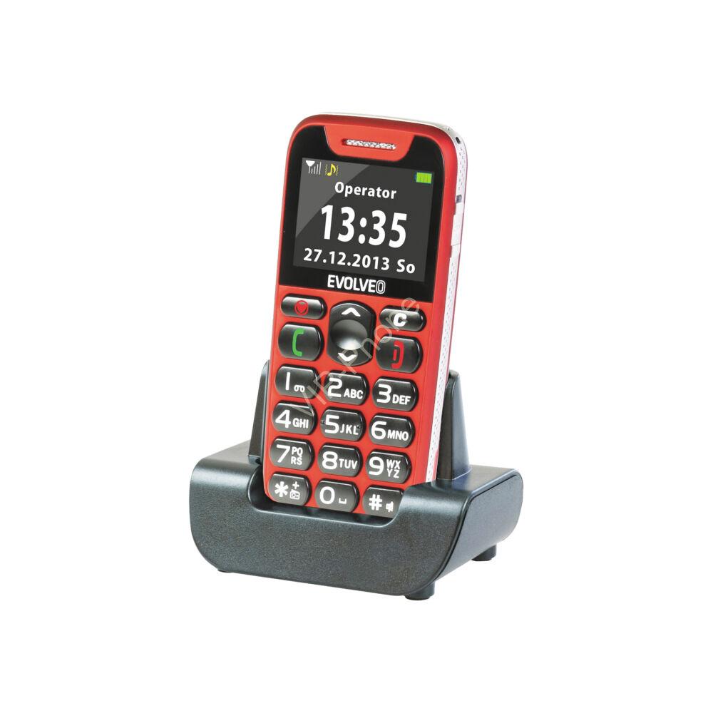 EVOLVEO EasyPhone (EP500) Piros gyártói garanciás kártyafüggetlen mobiltelefon
