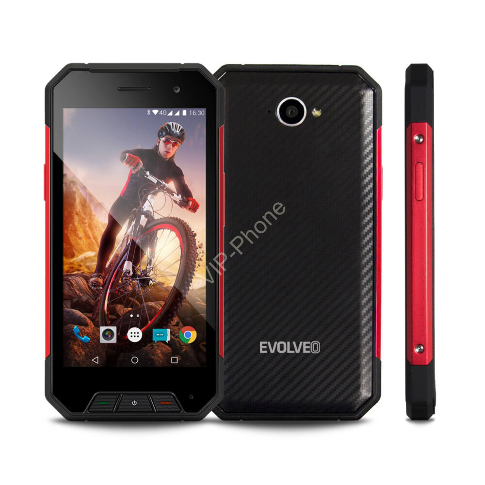 EVOLVEO Strongphone Q7 Fekete-Piros Dual-Sim gyártói garanciás kártyafüggetlen mobiltelefon