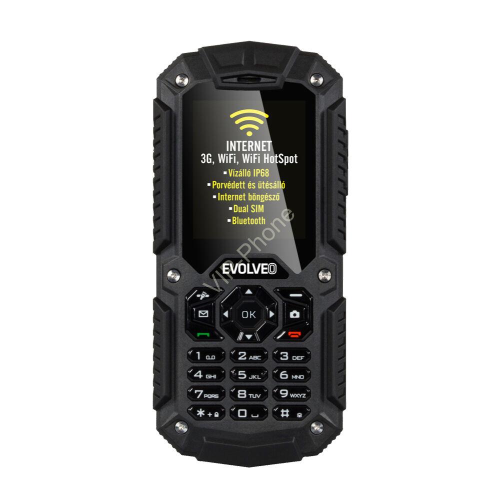 EVOLVEO Strongphone X2 Fekete Dual-Sim gyártói garanciás kártyafüggetlen mobiltelefon