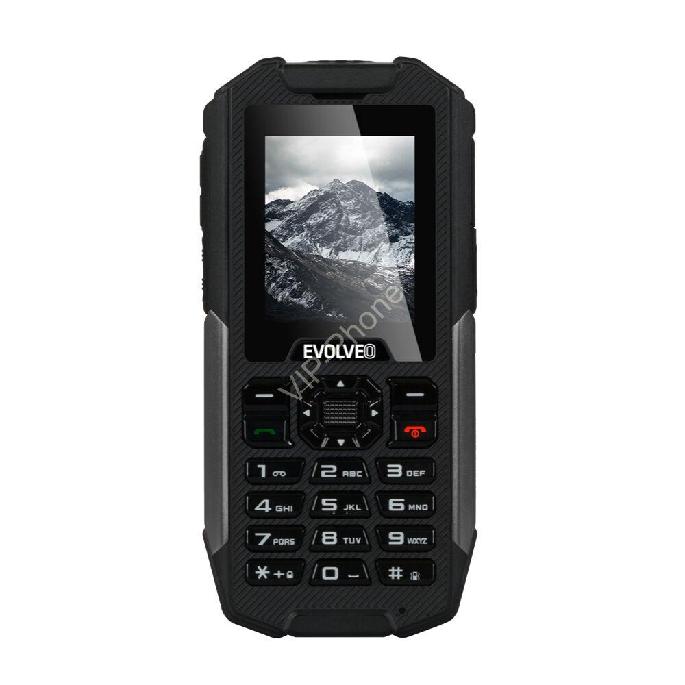 EVOLVEO Strongphone X3 Fekete Dual-Sim gyártói garanciás kártyafüggetlen mobiltelefon