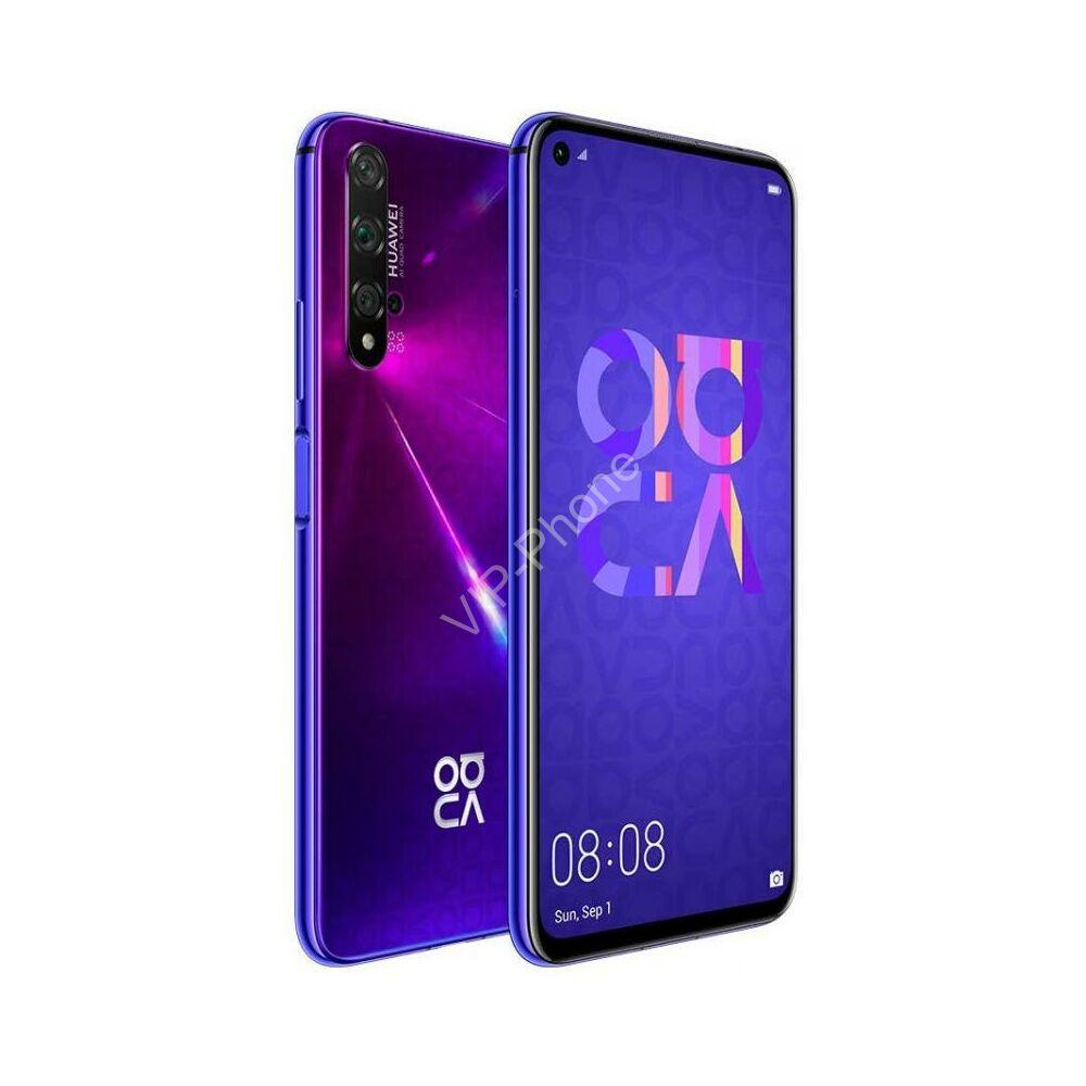 Huawei Nova 5T 128GB Dual-SIM lila gyártói garanciás kártyafüggetlen mobiltelefon