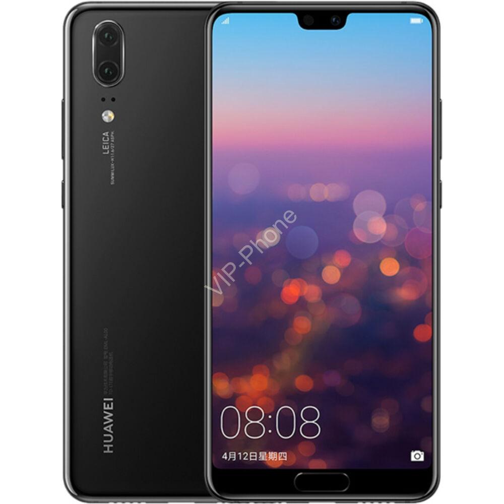 Huawei P20 128GB Dual-SIM fekete gyártói garanciás kártyafüggetlen mobiltelefon