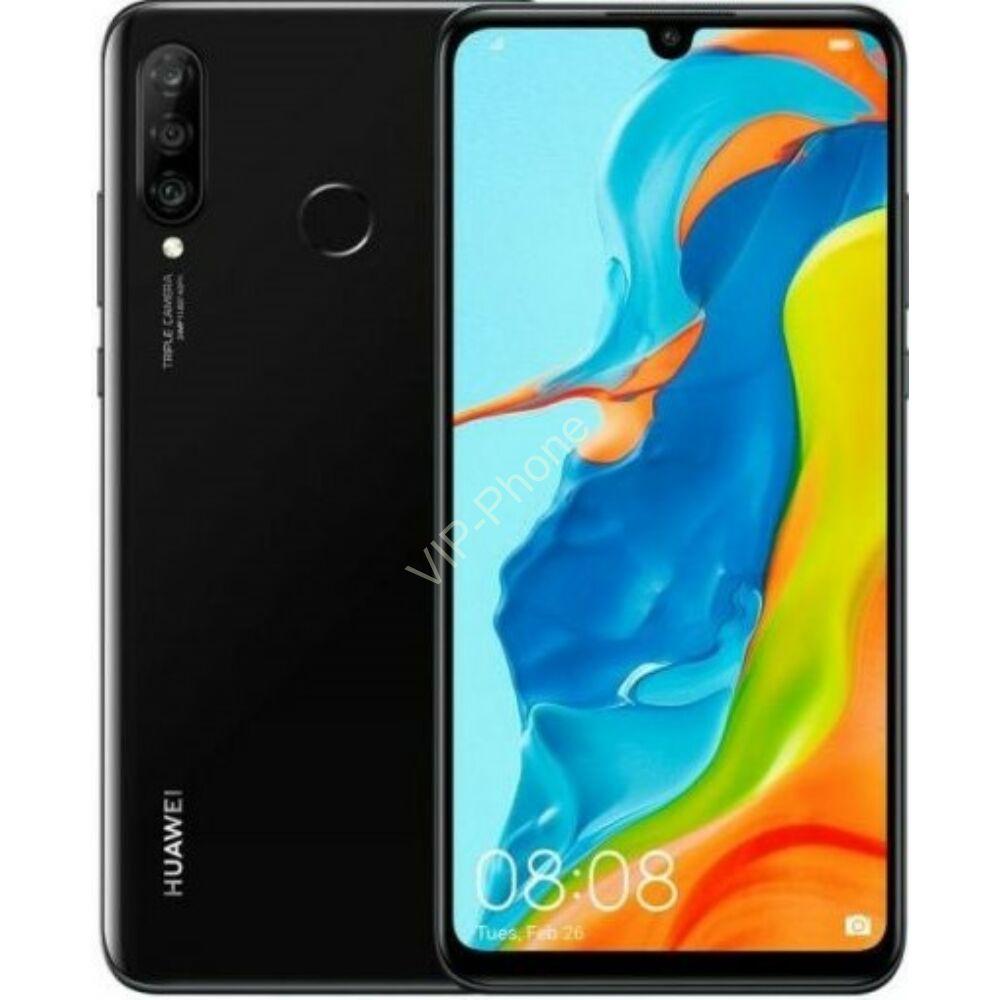 Huawei P30 Lite Dual-SIM fekete gyártói garanciás kártyafüggetlen mobiltelefon