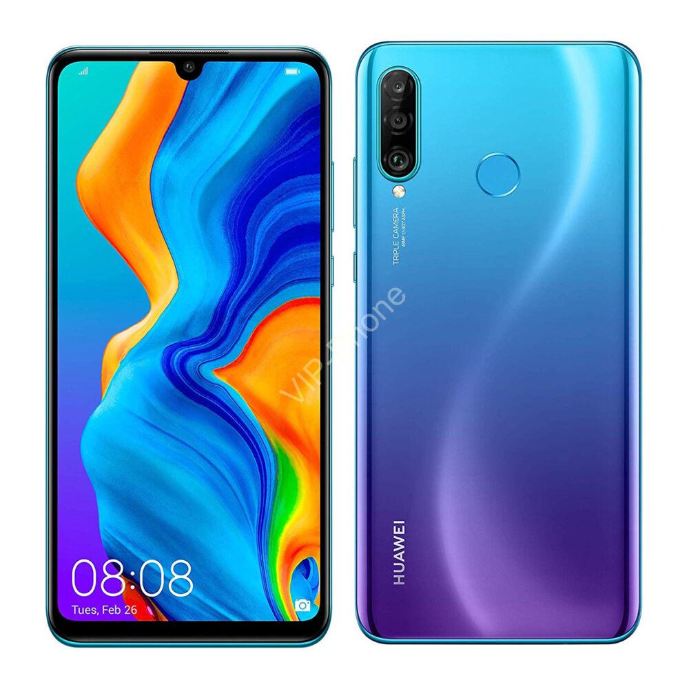 Huawei P30 Lite Dual-SIM kék gyártói garanciás kártyafüggetlen mobiltelefon