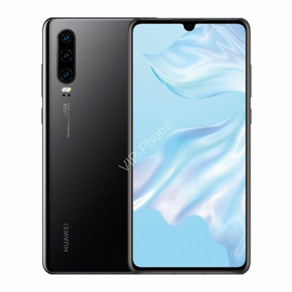 Huawei P30 128GB Dual-SIM fekete kártyafüggetlen mobiltelefon