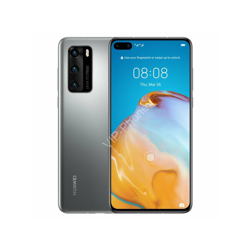 Huawei P40 5G 8/128GB Dual-SIM ezüst kártyafüggetlen mobiltelefon