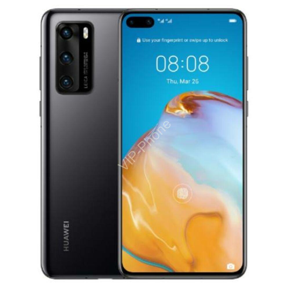 Huawei P40 5G 8/128GB Dual-SIM fekete kártyafüggetlen mobiltelefon