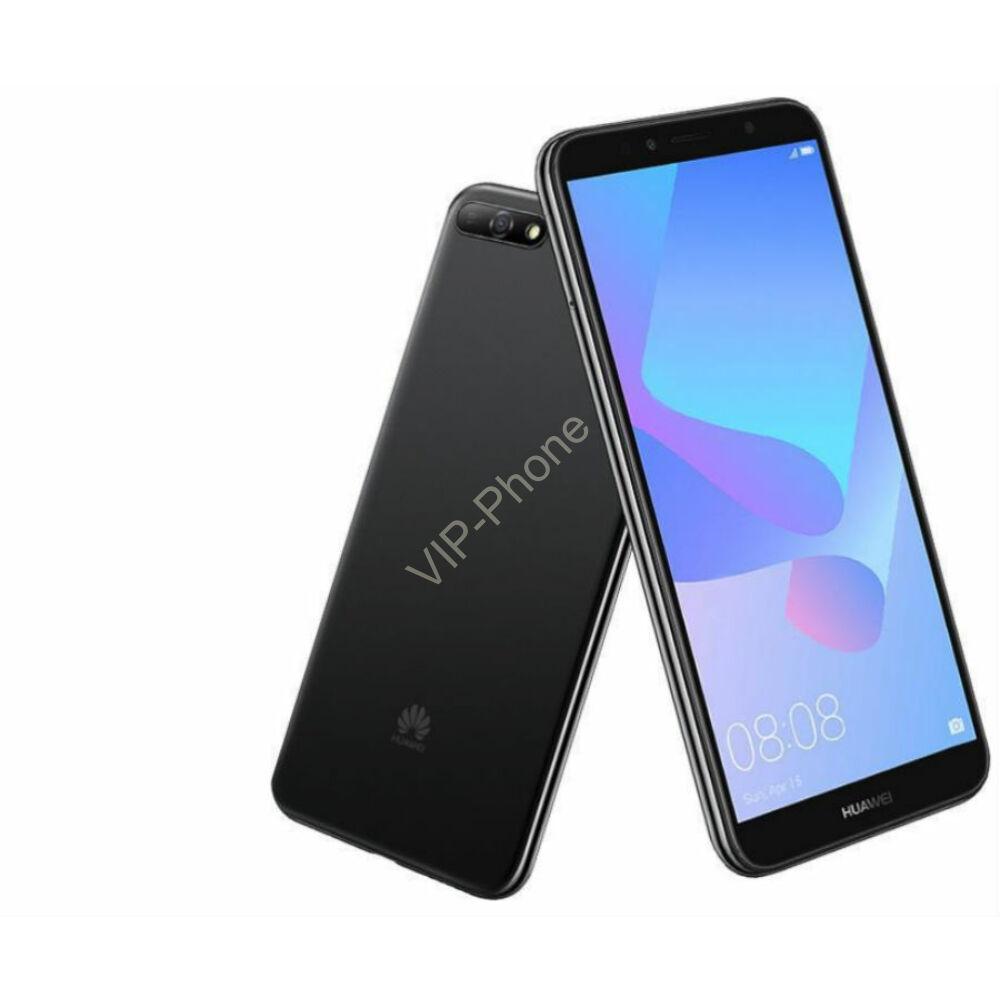 Huawei Y6 2018 Dual-SIM fekete gyártói garanciás kártyafüggetlen mobiltelefon