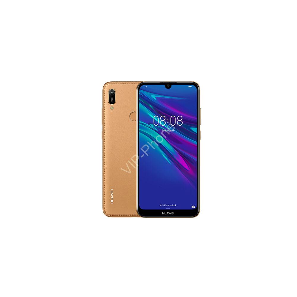 Huawei Y6 2019 Dual-SIM gyártói barna garanciás kártyafüggetlen mobiltelefon