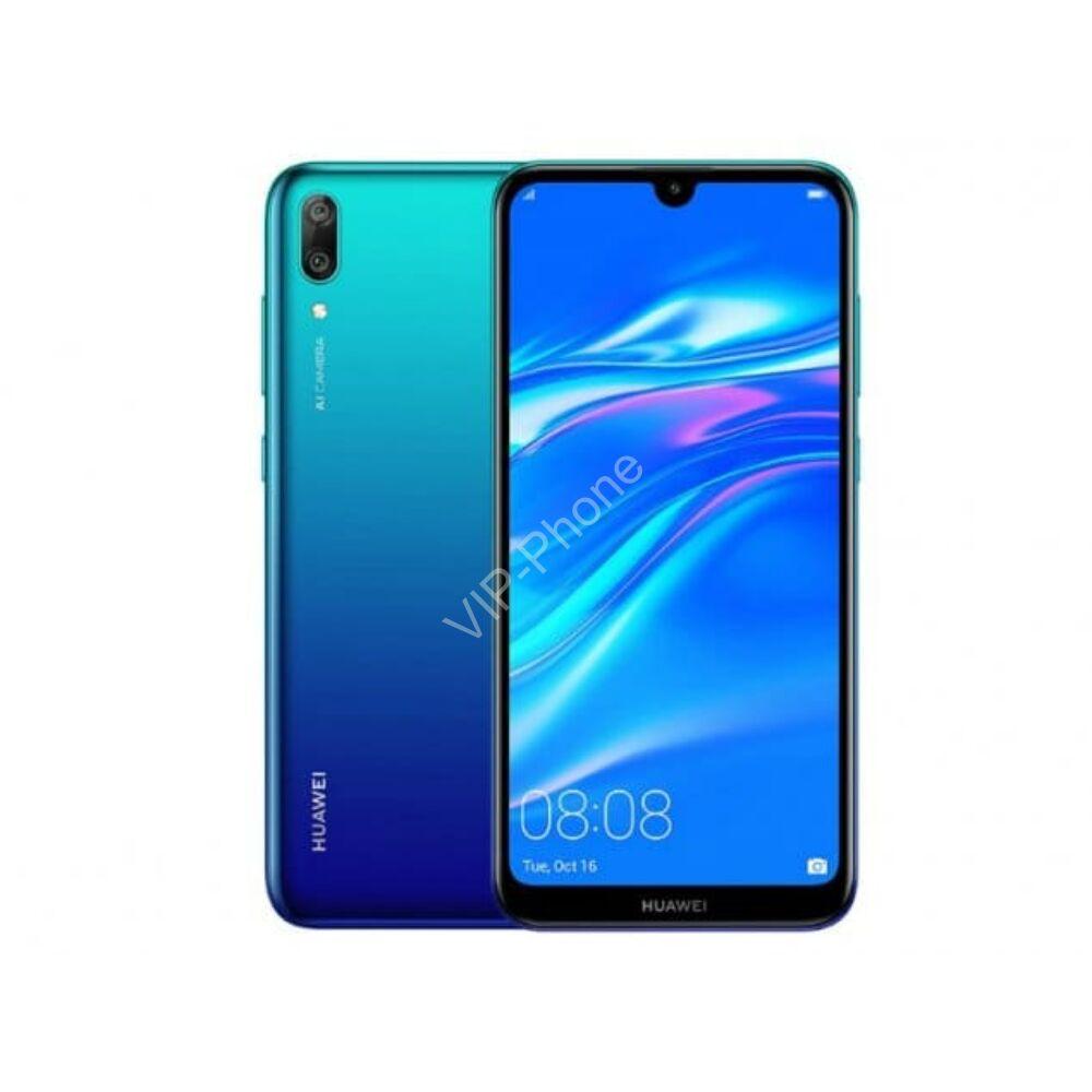 Huawei Y7 2019 Dual-SIM kék gyártói garanciás kártyafüggetlen mobiltelefon