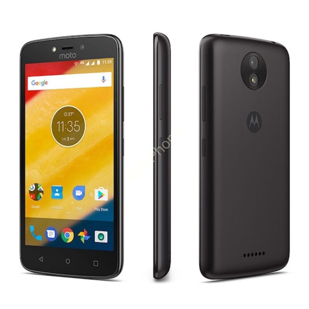 Motorola Moto C Plus (XT1723) Dual-Sim fekete gyártói garanciás kártyafüggetlen mobiltelefon