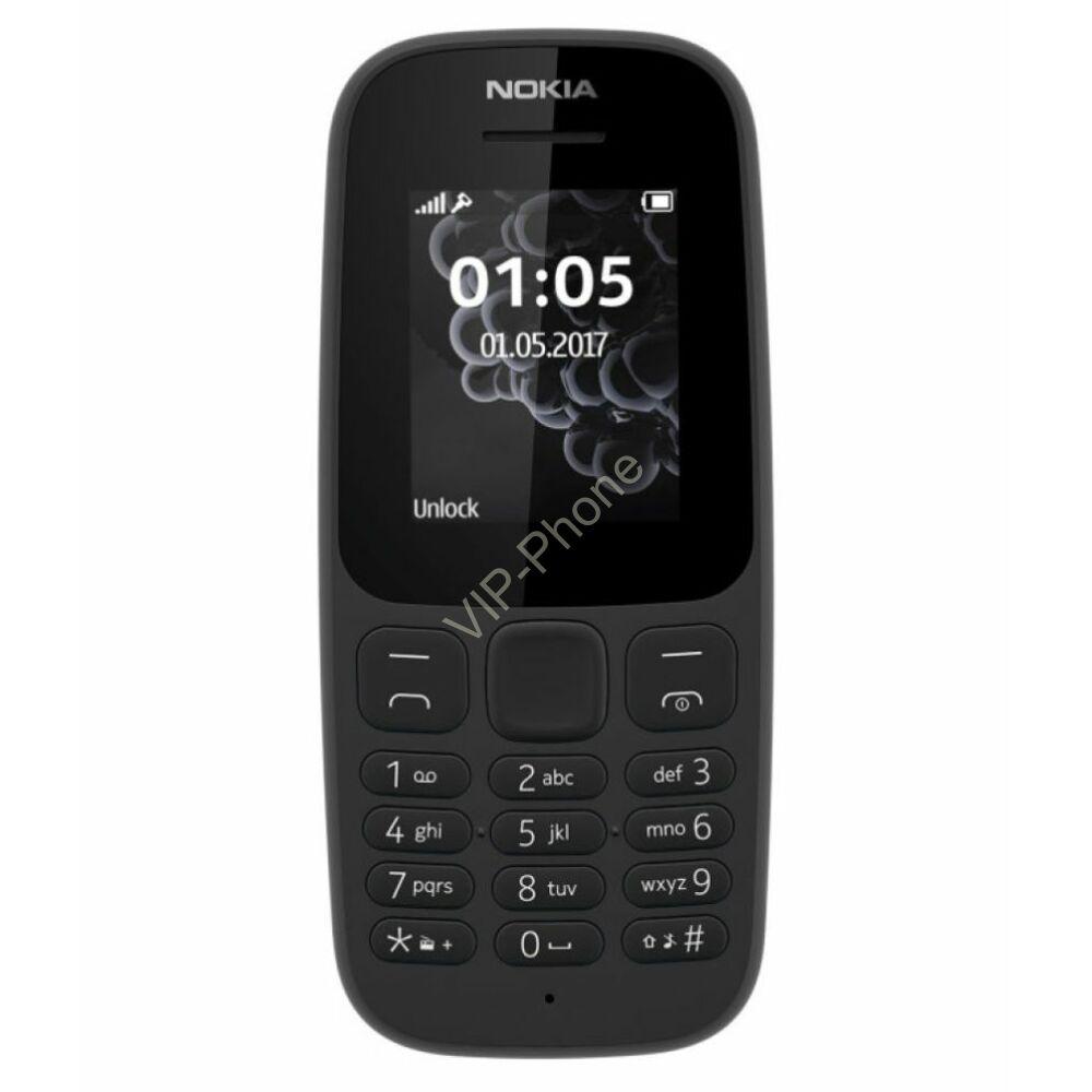 Nokia 105 (2017) Dual-Sim fekete gyártói garanciás kártyafüggetlen mobiltelefon