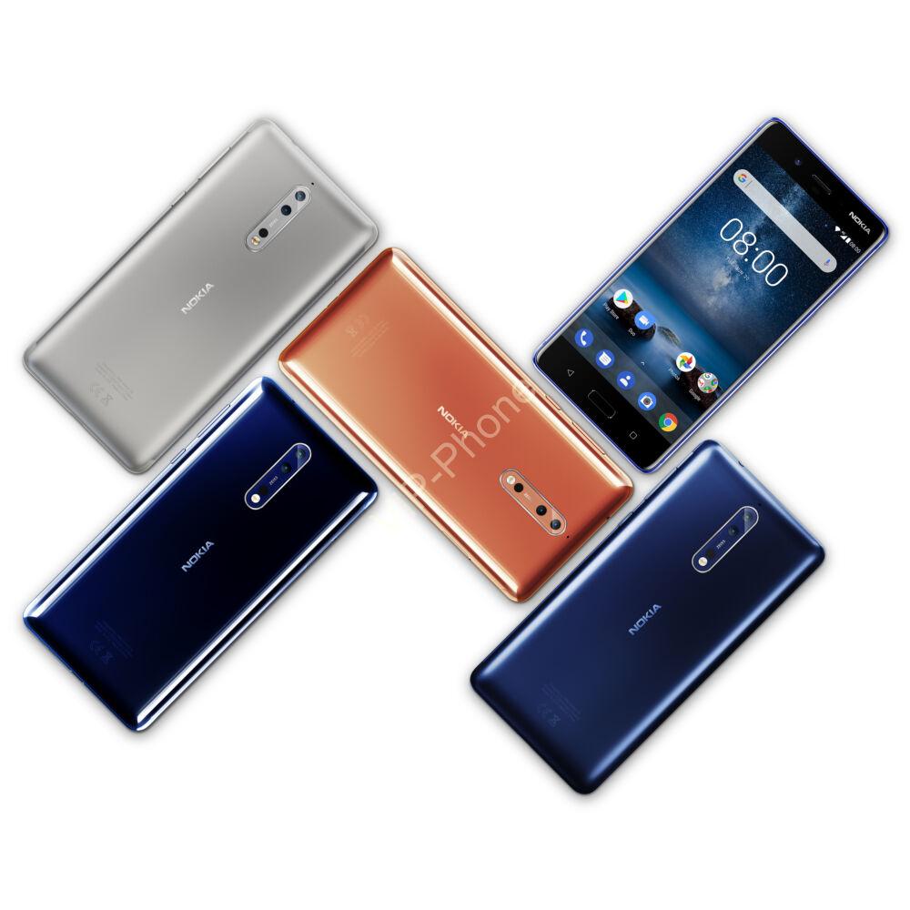 Nokia 8 64GB Dual-Sim gyártói garanciás kártyafüggelen mobiltelefon