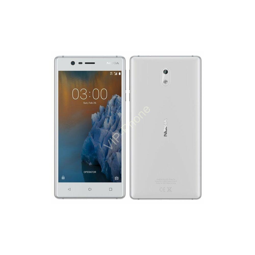 Nokia 3 Dual-SIM fehér gyártói garanciás kártyafüggetlen mobiltelefon