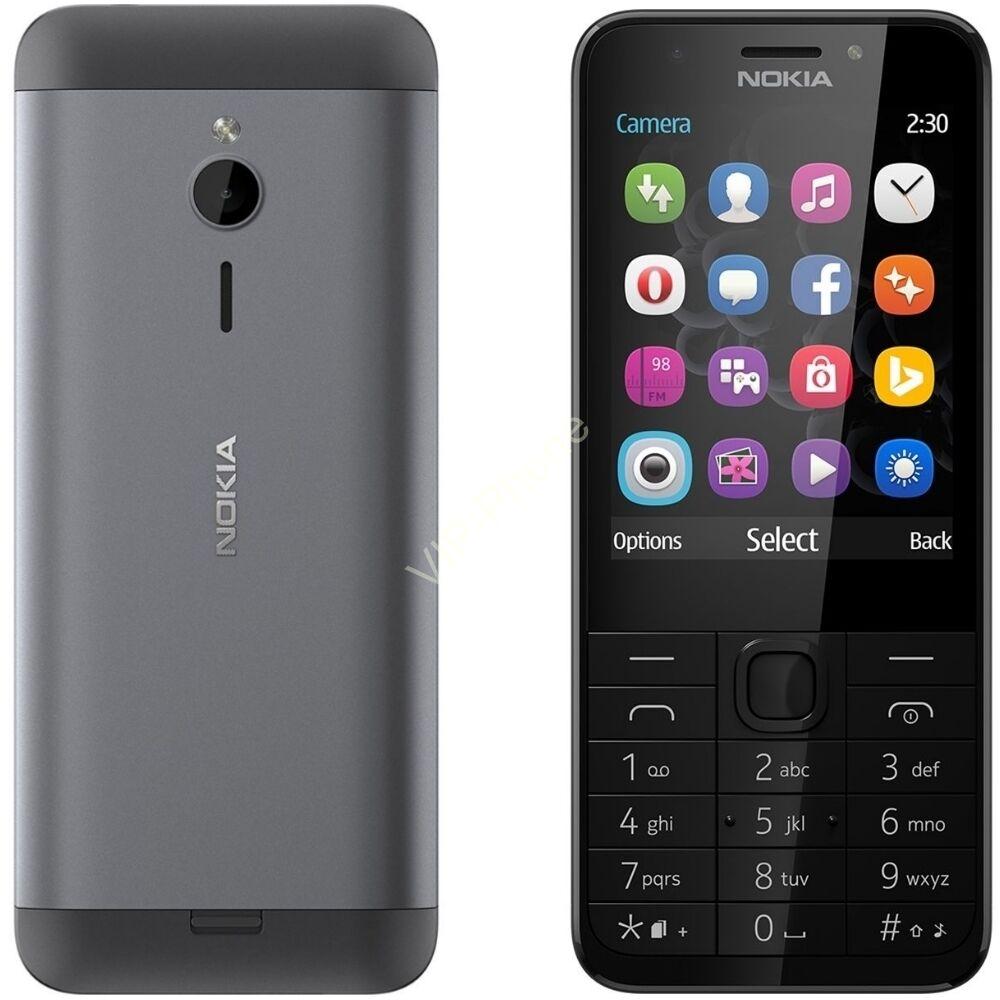 Nokia 230 Dual-Sim Sötétszürke kártyafüggetlen mobiltelefon gyártói garanciával