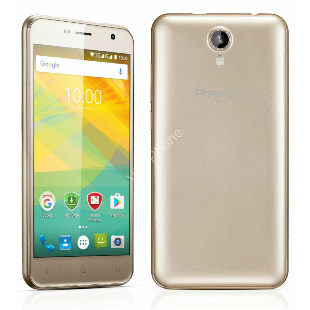 Prestigio Muze B3 Dual-Sim arany gyártói garanciás kártyafüggetlen mobiltelefon
