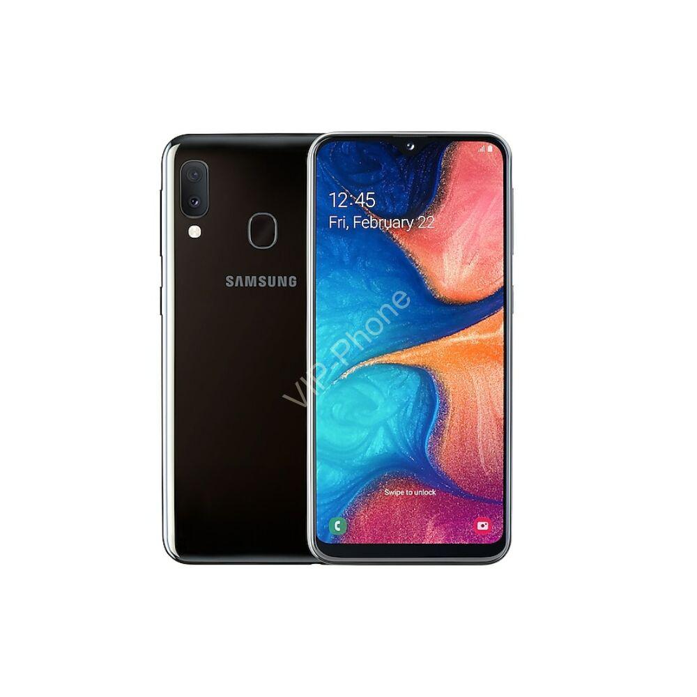 Samsung A202F Galaxy A20e 32GB Dual-Sim fekete gyártói garanciás kártyafüggetlen mobiltelefon