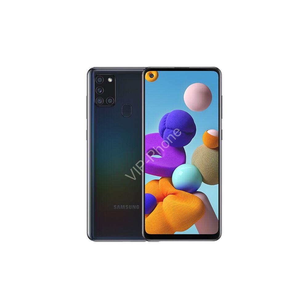 Samsung A217F Galaxy A21s 3/32GB Dual-Sim fekete gyártói garanciás kártyafüggetlen mobiltelefon