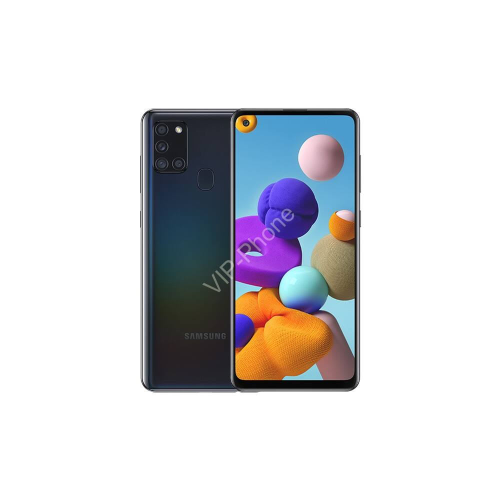 Samsung A217F Galaxy A21s 4/64GB Dual-Sim fekete kártyafüggetlen mobiltelefon