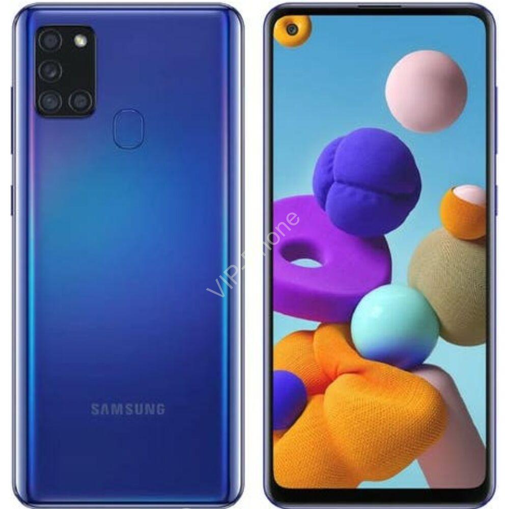 Samsung A217F Galaxy A21s 3/32GB Dual-Sim kék gyártói garanciás kártyafüggetlen mobiltelefon