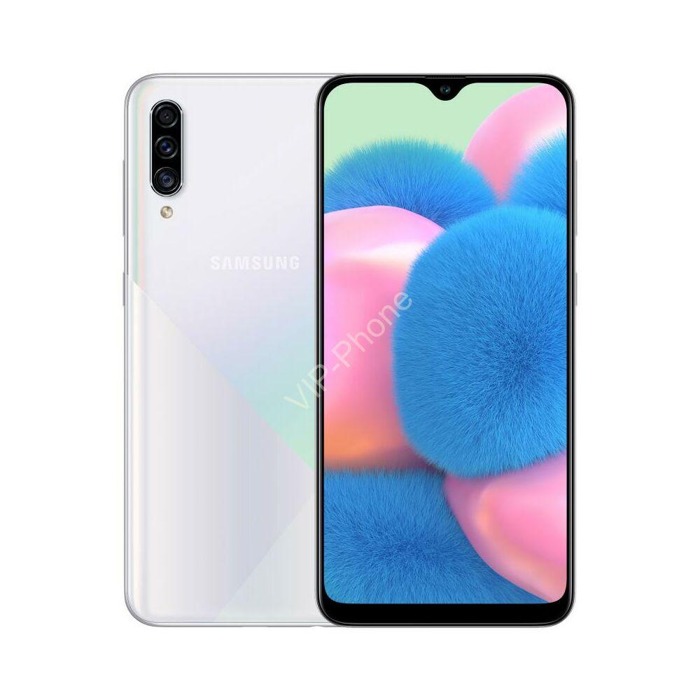 Samsung A307F Galaxy A30s 128GB Dual-Sim fehér kártyafüggetlen mobiltelefon