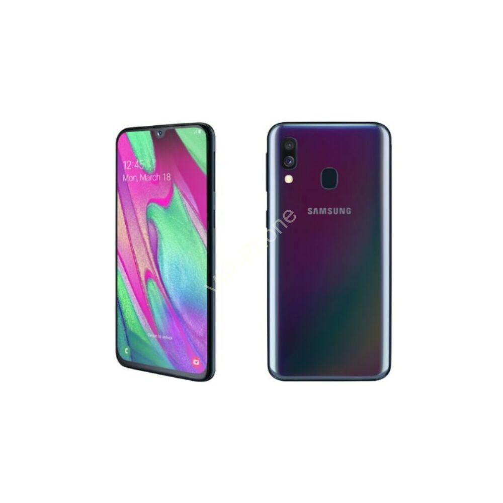 Samsung A405F Galaxy A40 64GB Dual-Sim fekete kártyafüggetlen mobiltelefon