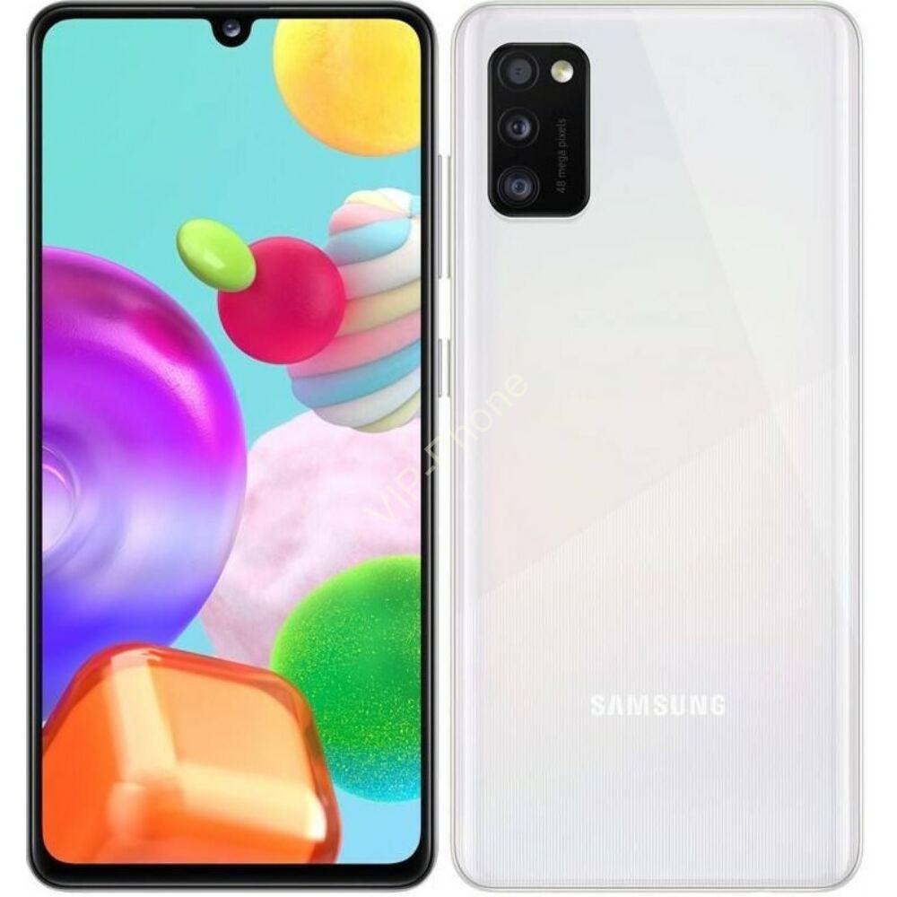 Samsung A415F Galaxy A41 64GB Dual-Sim fehér kártyafüggetlen mobiltelefon
