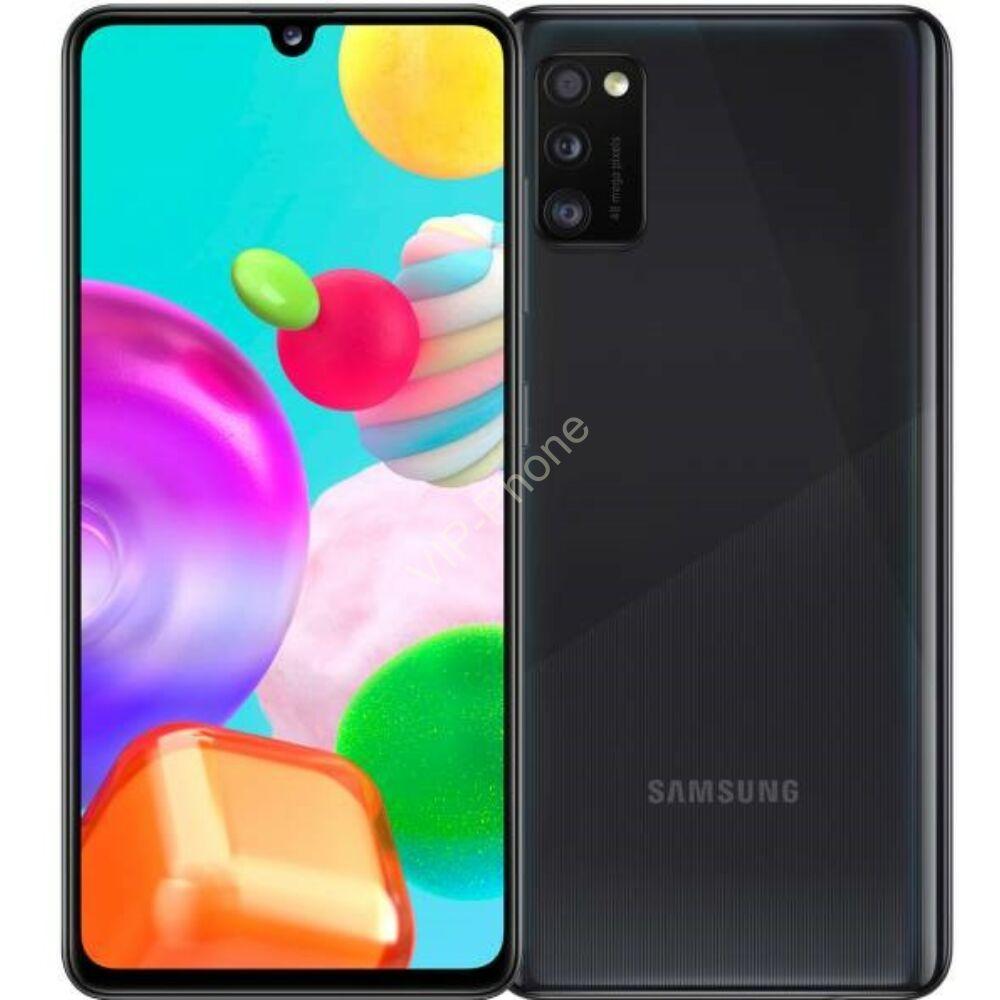 Samsung A415F Galaxy A41 64GB Dual-Sim fekete gyártói garanciás kártyafüggetlen mobiltelefon