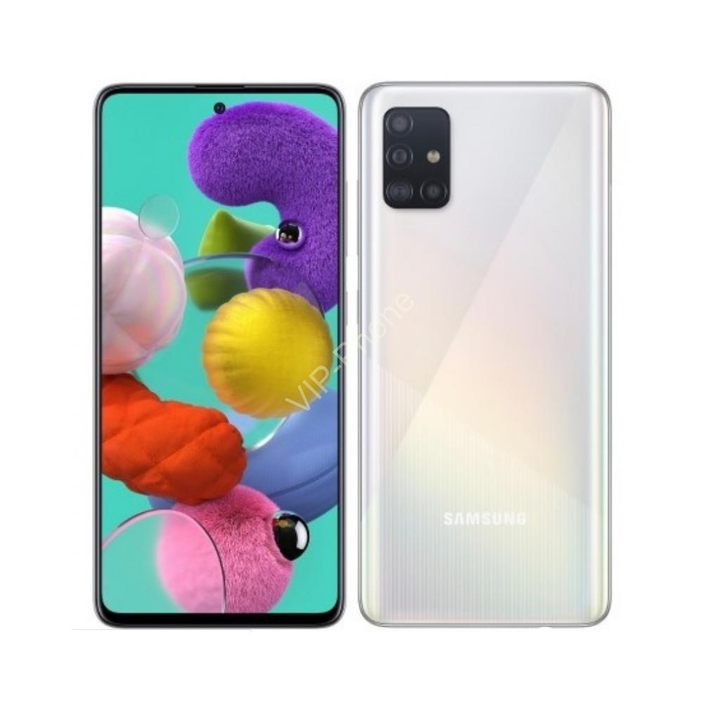 Samsung A515F Galaxy A51 4/128GB Dual-Sim fehér gyártói garanciás kártyafüggetlen mobiltelefon