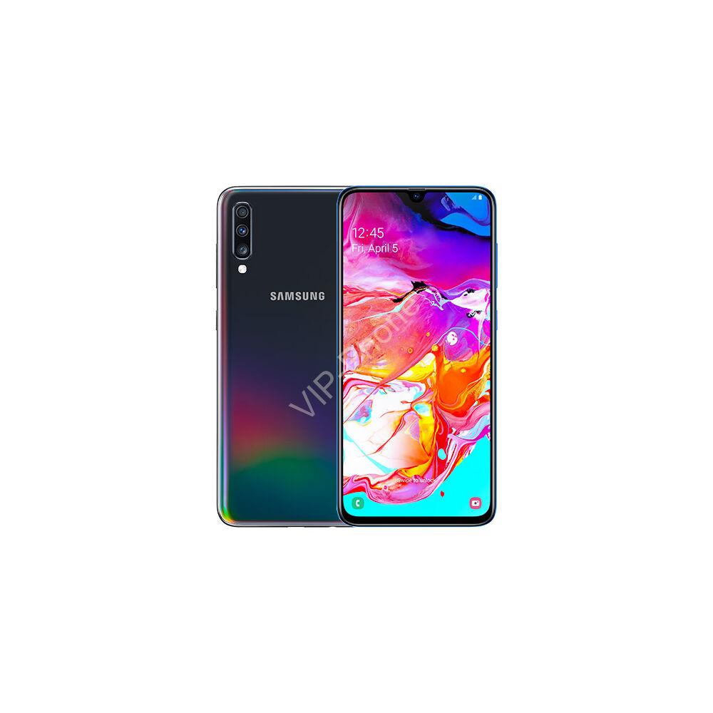 Samsung A705F Galaxy A70 6/128GB Dual-Sim fekete gyártói garanciás kártyafüggetlen mobiltelefon
