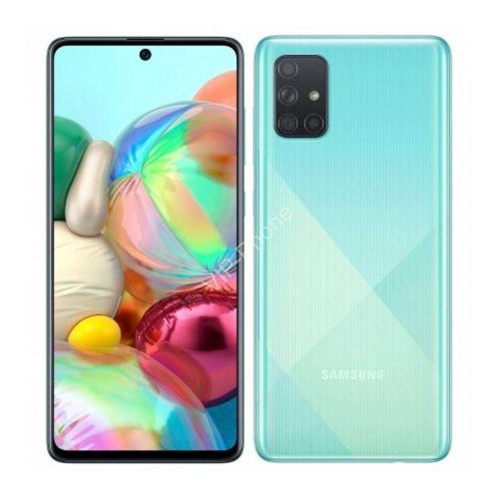 Samsung A715F Galaxy A71 6/128GB Dual-Sim kék gyártói garanciás kártyafüggetlen mobiltelefon