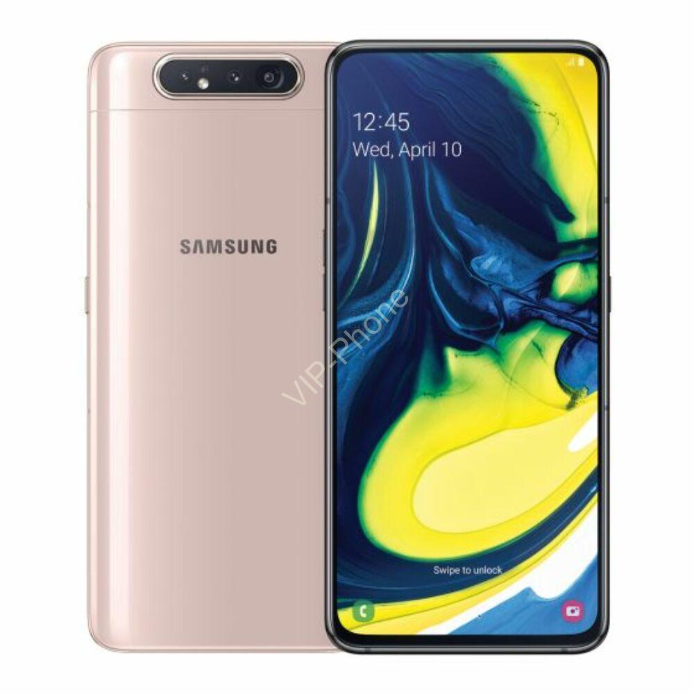 Samsung A805F Galaxy A80 8/128GB Dual-Sim fekete gyártói garanciás kártyafüggetlen mobiltelefon